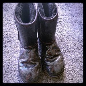 Uggs black sequin boots